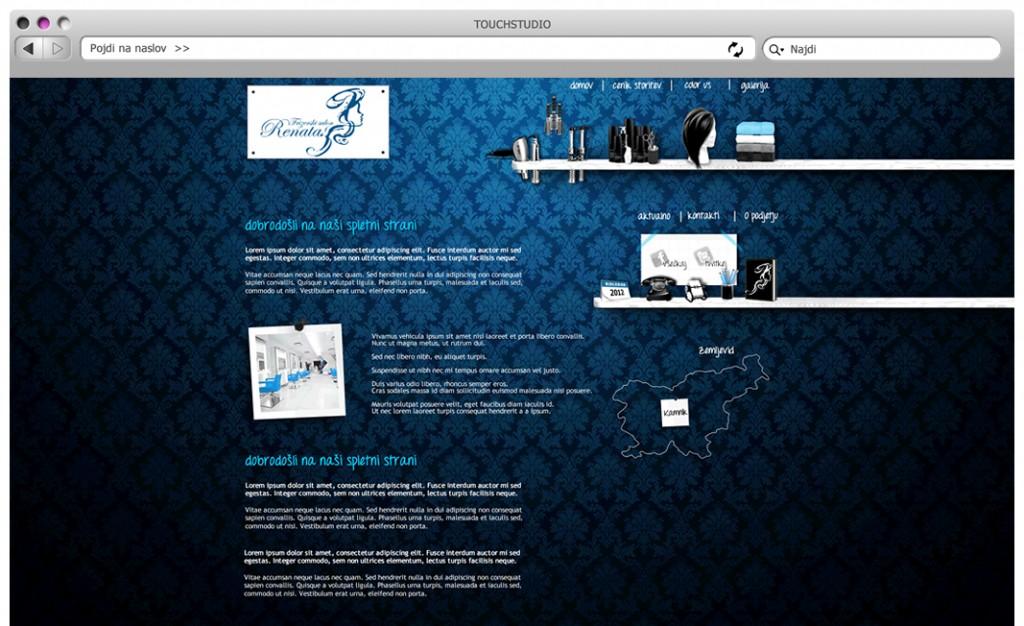 Frizerski Salon Renata: Izdelava odzivne spletne strani (Spletna vizitka HTML5)