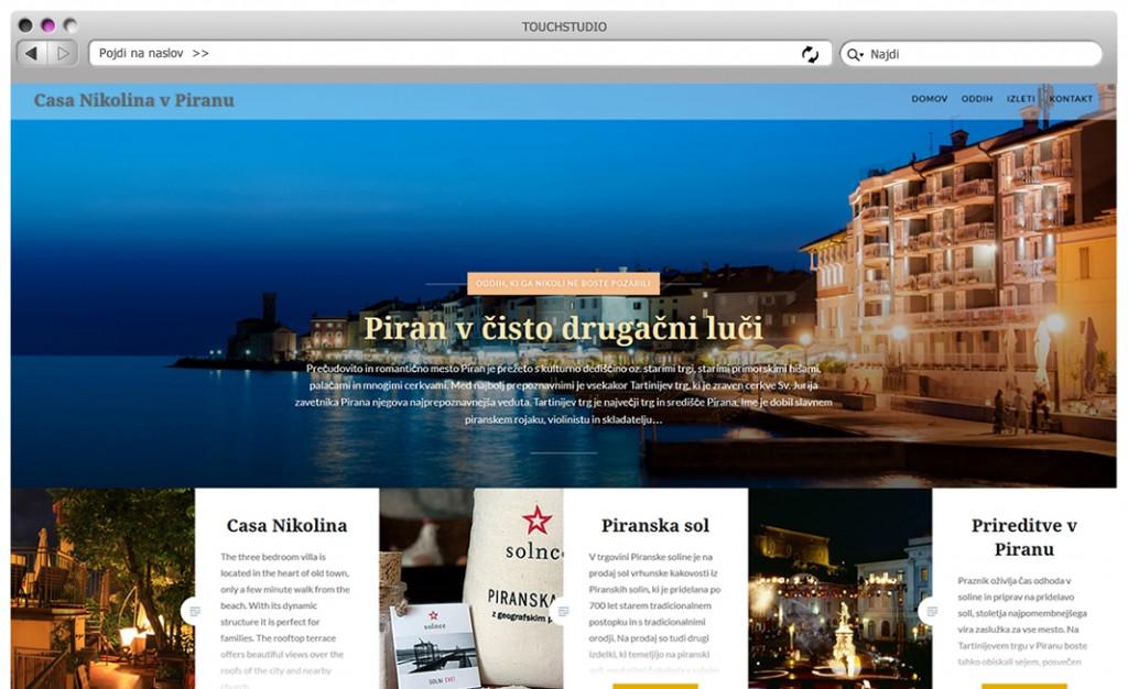 Casa Nikolina v Piranu: Izdelava responsive (odzivne) spletne strani z urejevalnikom vsebine (CMS)