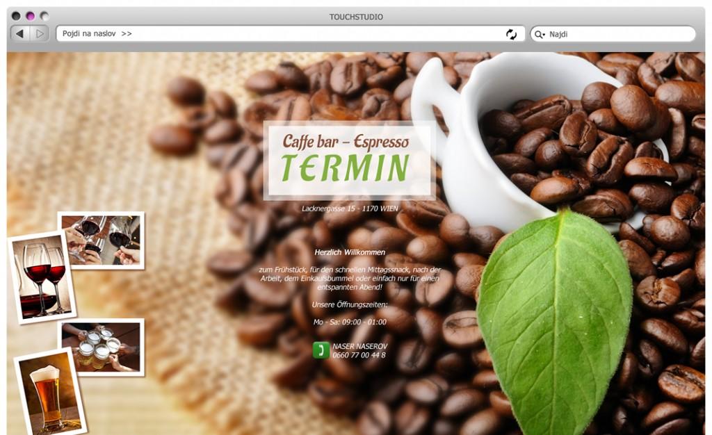 TERMIN: Idejna zasnova preproste spletne HTML strani (spletna vizitka)