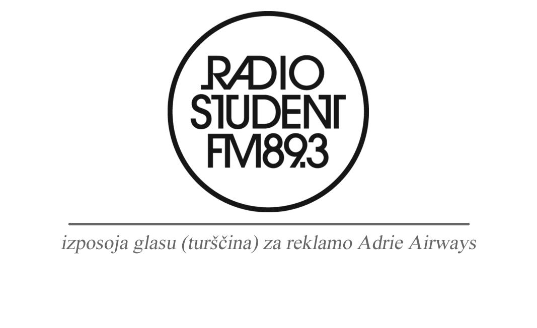 Izposoja glasu (turščina) Touchstudio Radio Študent