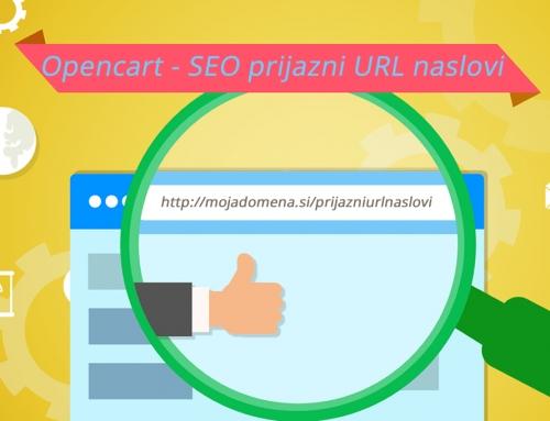 SEO prijazni URL naslovi v Opencart trgovini