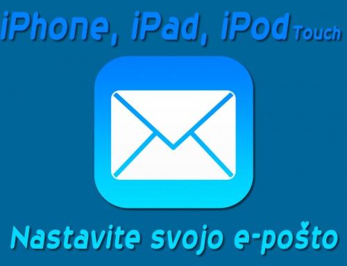 Nastavite e-poštni račun na vaš iPhone, iPad ali iPod touch
