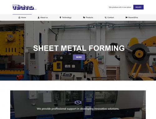 Holding Unitehna – Izdelava spletne strani