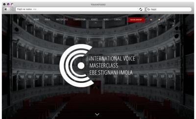 Izdelava spletne strani Masterclass Ebe Stignani