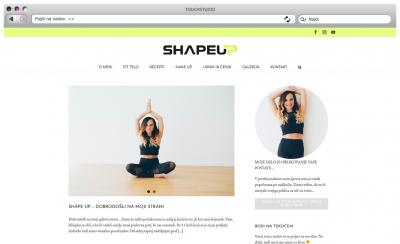 Izdelava spletne strani ShapeUp