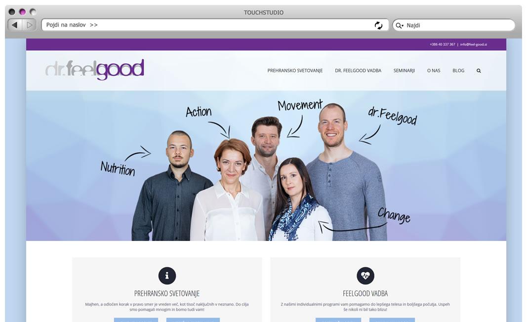 Izdelava spletne strani drfeelgood.si