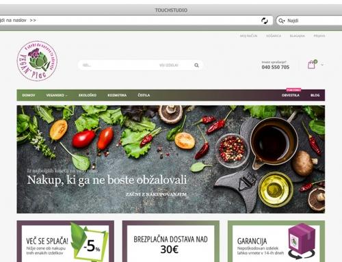 Izdelava spletne trgovine Veganplac