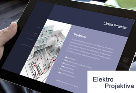Izdelava spletnih strani ElektroProjektiva