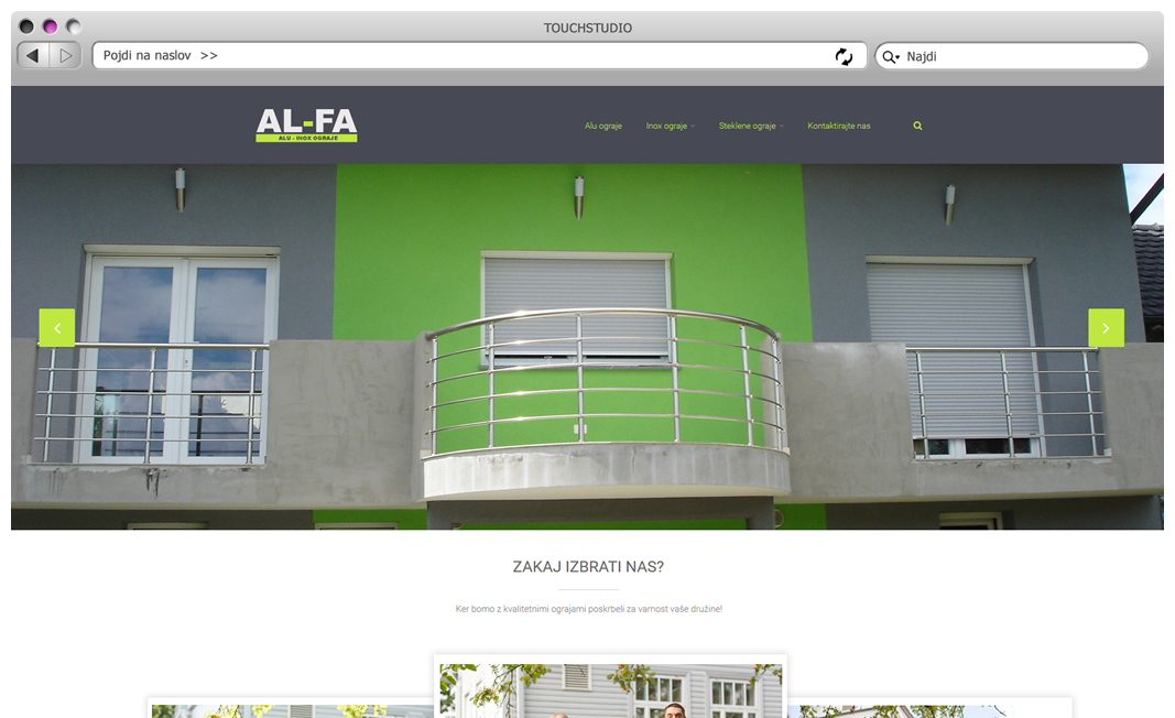 Izdelava spletnih strani alfa ograje