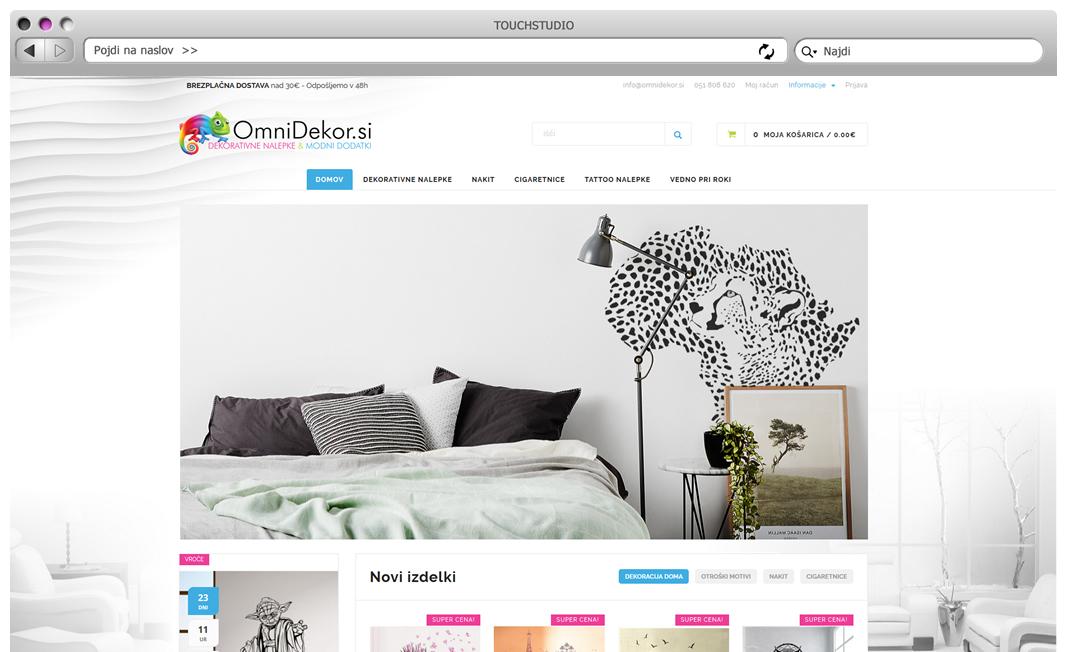 Izdelava spletne trgovine Omnidekor