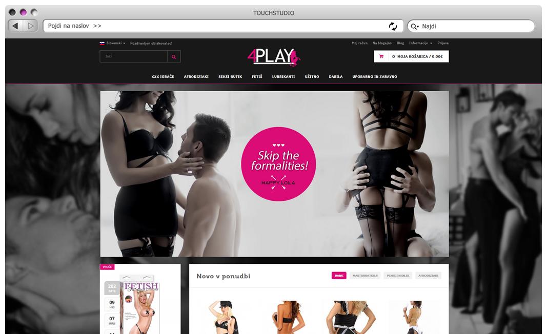 Izdelava spletne trgovine 4play