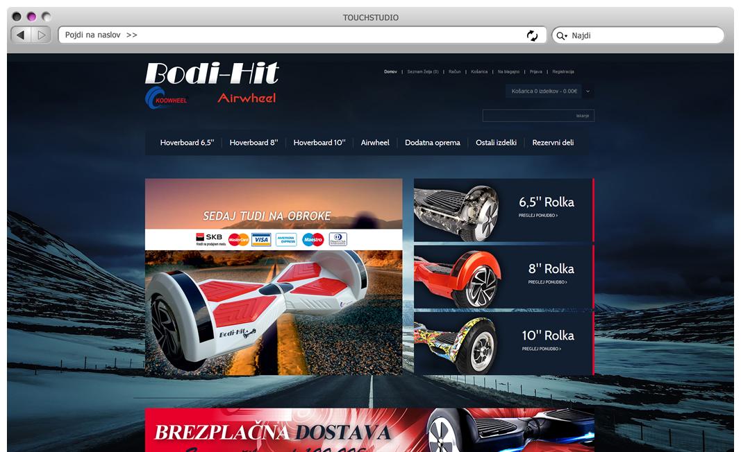 Izdelava spletne trgovine Bodi-Hit.si
