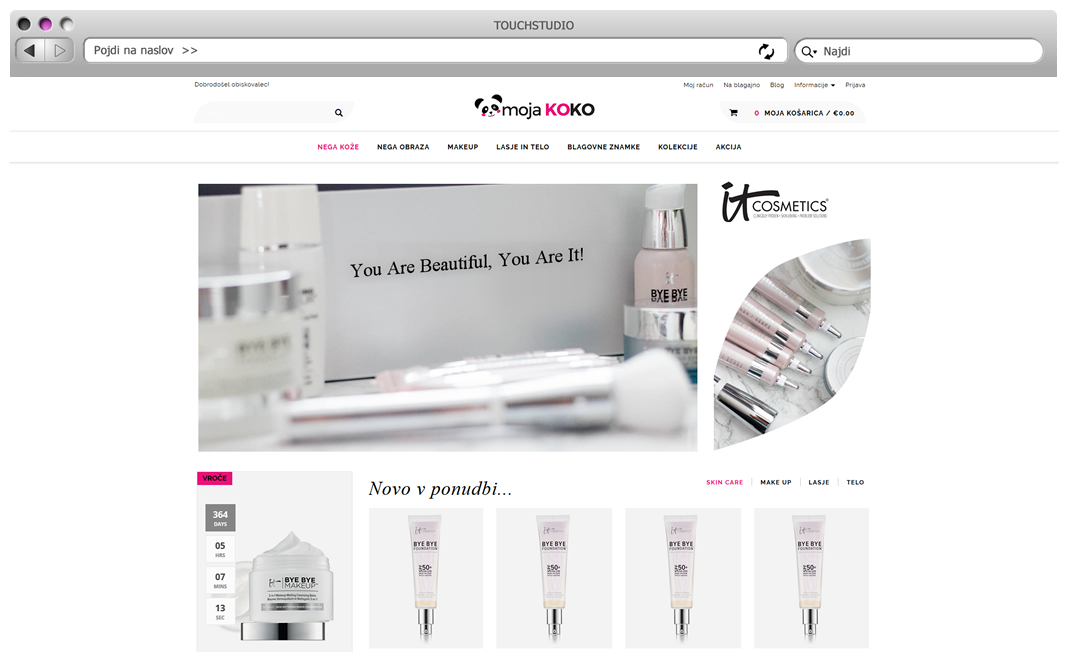 Izdelava spletne trgovine Opencart: MojaKOKO