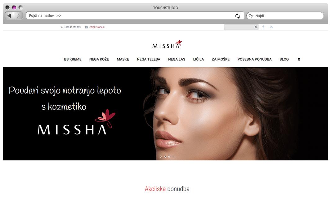 Spletna trgovina Missha.si