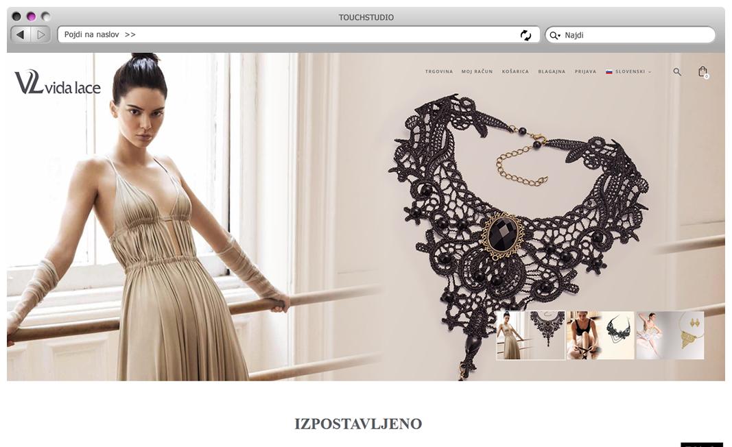 Izdelava spletne trgovine Vidalace