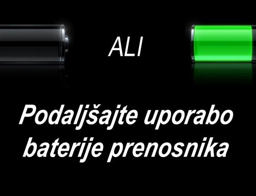 Kako podaljšati uporabo baterije prenosnika
