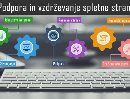 Podpora spletne strani