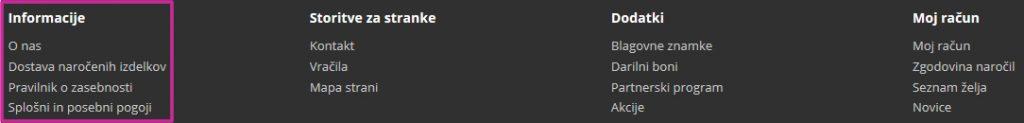 informacijske strani opencart noga touchstudio
