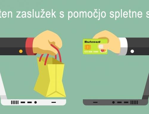 Izdelava spletne trgovine za vse, ki iščejo dodaten zaslužek